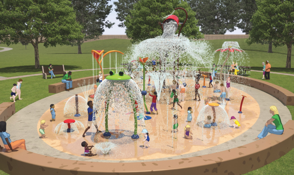 Kiwanis Recreation Center Splash Pad Parks And Recreation