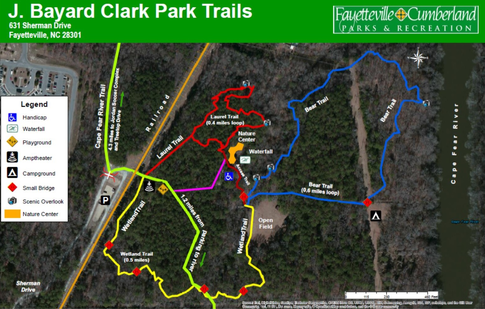 Clark Park Trail Map